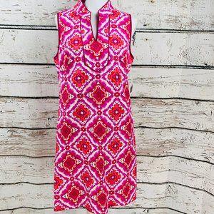 Kensie Women's Dress Pink White Red 12 NWT